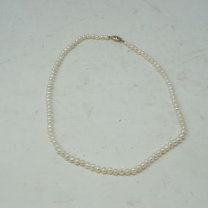 """Jewelry - 18"""" Vintage Pearl Necklace Gold Filigree Clasp"""